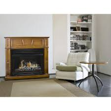 pleasant hearth 45 in vent free dual fuel fireplace in rich