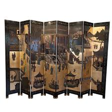 eight panel coromandel screen screens chinoiserie and