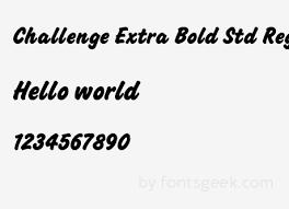 Challenge Std Challenge Bold Std Regular For Free View Sle Text