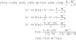 differential equations laplace transforms