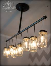 diy mason jar light with iron pipe 32 diy mason jar lighting ideas joy with regard to attractive home