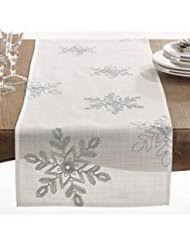 silver table runners kitchen table linens home