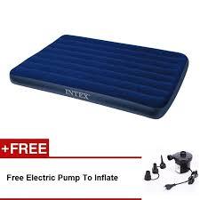 intex inflatable flocked air bed mattress queen 137 191 22