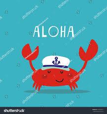 cute crab print kids stock vector 419562241 shutterstock