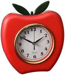 amazon com kole red apple wall clock home u0026 kitchen