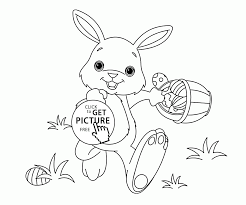 funny little easter bunny coloring page for kids coloring pages