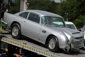 old aston martin james bond four year old hurt as classic james bond style aston martin db5 is