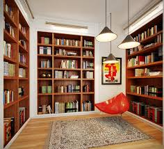 Bookcase Lights Cool Reading Room Design Idea With Colorful Bookcase Lighting Plan