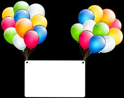 birthday card with balloons transparent png clip art gallery