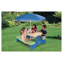 little tikes easy store picnic table with umbrella target