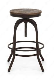 Backless Swivel Bar Stool Black Lacquer Iron Adjustable Height Swivel Stool Without Backrest