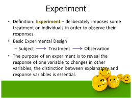 Define Single Blind Experiment Experiments And Observational Studies Ppt Download