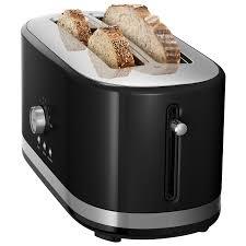 Hamilton Beach 4 Slice Toaster Kitchenaid Long Slot Toaster 4 Slice Onyx Black Toasters