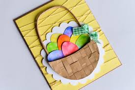 easter egg baskets to make how to make easter egg basket card step by step