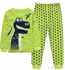 new autumn sleeve baby boys pajamas sets dinosaur