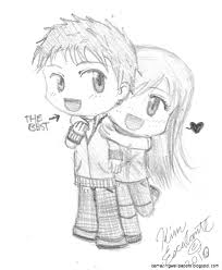 funny cute pencil sketches of love great drawing