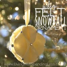 diy felt snowball ornament living well spending less