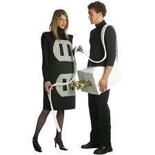 Walmart Size Halloween Costumes Size Plug Socket Couples Costume Walmart