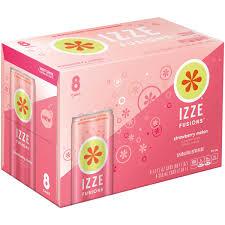 izze fusions sparkling beverage strawberry melon 8 count 12 fl