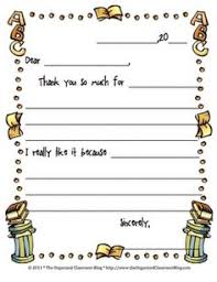 thank you note template for kids free notes template thank you