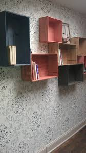 Crates For Bookshelves - love wooden crates used as shelving great wooden display for any