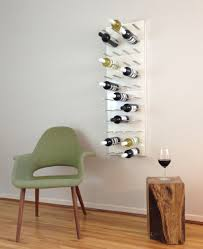 wine wall rack 4 panels pure white lacquer modern dining