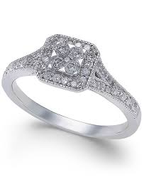 jewelry promise rings images Macy 39 s diamond cushion cut halo promise ring 1 4 ct t w in 10k tif