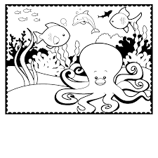 marvelous printable octopus coloring pages with octopus coloring