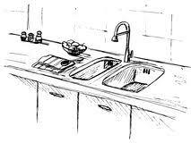 dessin evier cuisine bassin de cuisine plan de travail de cuisine avec l évier le croquis