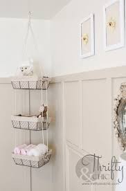 Hanging Baskets For Bathroom Storage Diy Hanging Storage Baskets Hanging Storage Storage Baskets And