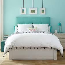 teen upholstered headboards u0026 beds pbteen