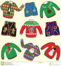 ugly christmas sweaters stock photos image 22281783