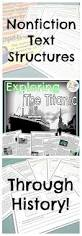 the 25 best titanic information ideas on pinterest story of nonfiction text structures titanic reading unit