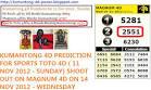 Kumantong 4D Power: Kumantong 4D Prediction for Sports Toto 4D ...