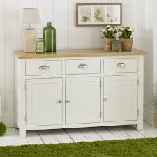 cream painted 3 door large sideboard