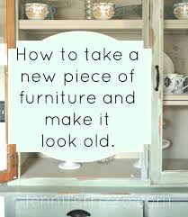 Old Furniture Makeovers How To Make A New Piece Of Furniture Look Old With Paint And