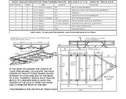 enclosed trailer wiring diagram on tandem trailer parts diagram