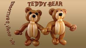 teddy bears in balloons teddy balloon animal tutorial balloon twisting and modeling