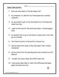 capital letters worksheetsworksheets