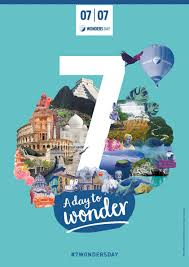 presenting the 7wonders day poster collection about new7wonders
