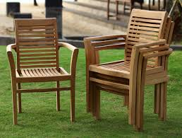 Teak Patio Chairs Ohana Teak Patio Furniture Seater Conversation Set With Cushions