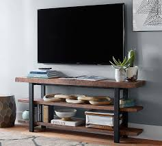 30 Inch Media Cabinet Griffin Reclaimed Wood Media Console Pottery Barn