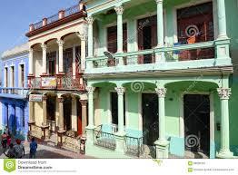 colonial houses at santiago de cuba cuba editorial stock photo