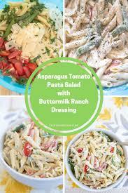 Pasta Salad Recipes With Italian Dressing Asparagus Tomato Pasta Salad Flour On My Face