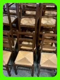 chaise en bois et paille chaise bois massif et assise paille mobilier maison chaise