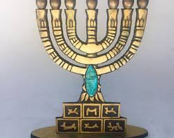 seven branch menorah 7 candle menorah etsy