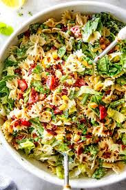 salad pasta blt pasta salad with best creamy lemon chive dressing