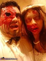 Halloween Costumes Bride Groom Pregnant Zombie Bride Groom Couple Costume Photo 3 8