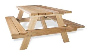 Cedar Patio Table Wooden Picnic Table Kits By All Things Cedar Patio Tables