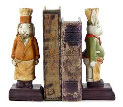 rabbit bookends chef rabbit bookends cook cooking kitchen rabbit book ends ebay